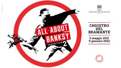 Photo of Banksy expo in Rome tot mei '22