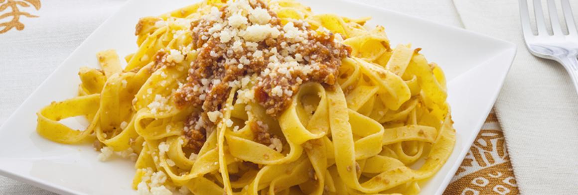 Photo of Recept : Tagliatelli al Ragu Bianco