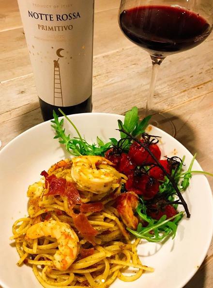 Photo of Josephine's Cucina : Pasta pesto met krokante ham & garnalen