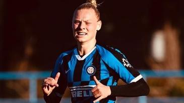 Photo of Ella Van Kerkhoven, onze Red Flame bij het grote Inter Milaan